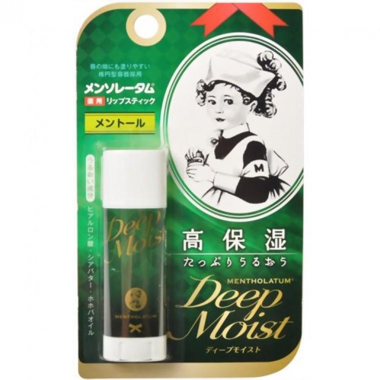 Mentholatum Deep Moist Lip Balm (Menthol) Бальзам для губ, глубокое увлажнение с ментолом