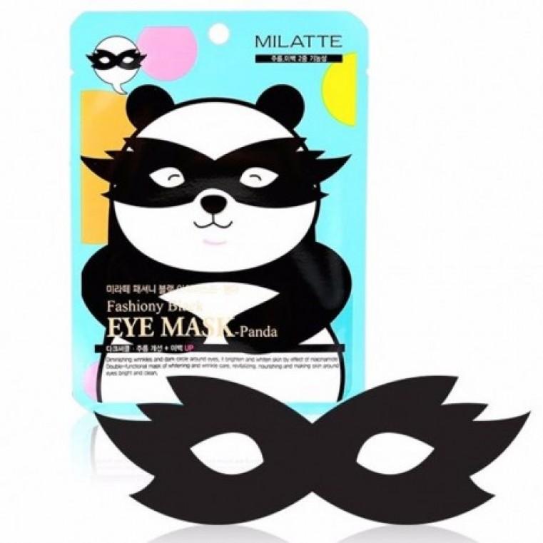 Milatte Fashiony Black Eye Mask Panda Маска для кожи вокруг глаз - Панда