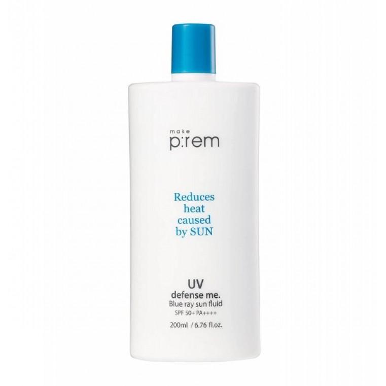 Make P:rem UV Defense Me Blue Ray Sun Fluid SPF 50+PA++++ Солнцезащитное молочко для лица и тела