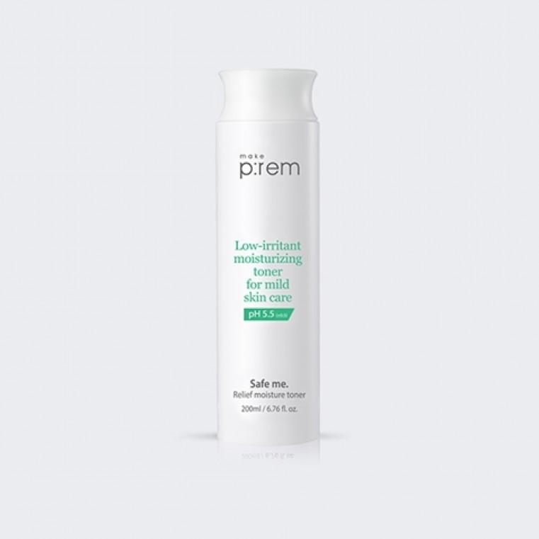 Make P:rem Safe me. Relief moisture toner Слабокислотный тоник для чувствительной кожи