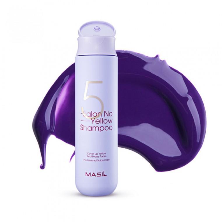 Masil 5 Salon No Yellow Shampoo Тонирующий шампунь для осветленных волос