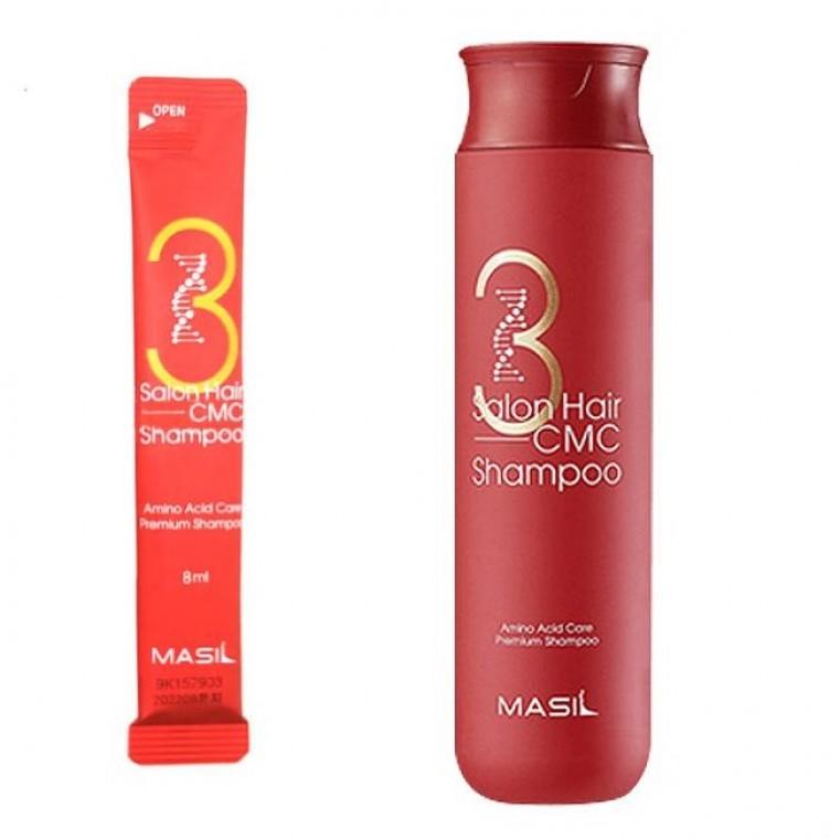 Masil 3 Salon Hair CMC Shampoo Восстанавливающий профессиональный шампунь с керамидами