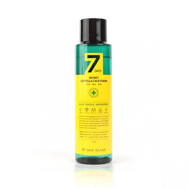 May Island 7 Days Secret Centella Cica Toner AHA/BHA/PHA Обновляющий тонер для проблемной кожи