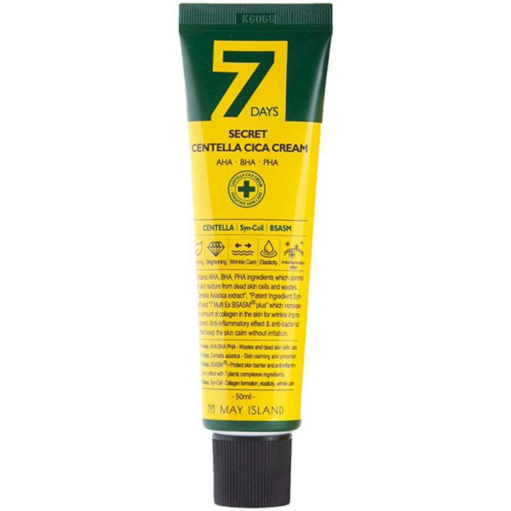 May Island 7 Days Secret Centella Cica Cream AHA/BHA/PHA Восстанавливающий крем для проблемной кожи