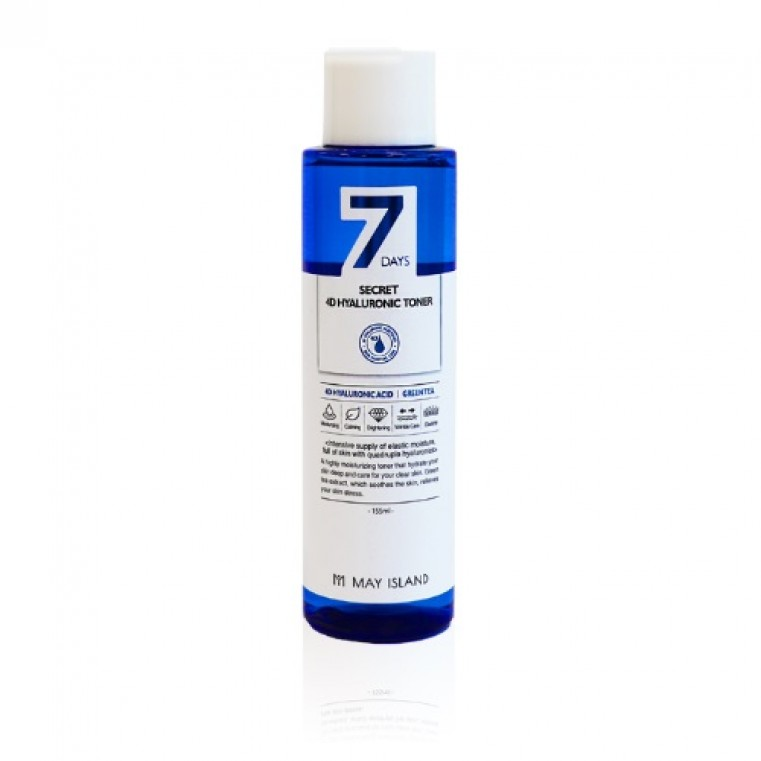 MAY ISLAND 7 Days Secret 4D Hyaluronic Toner Тонер с 4 видами гиалуроновой кислоты