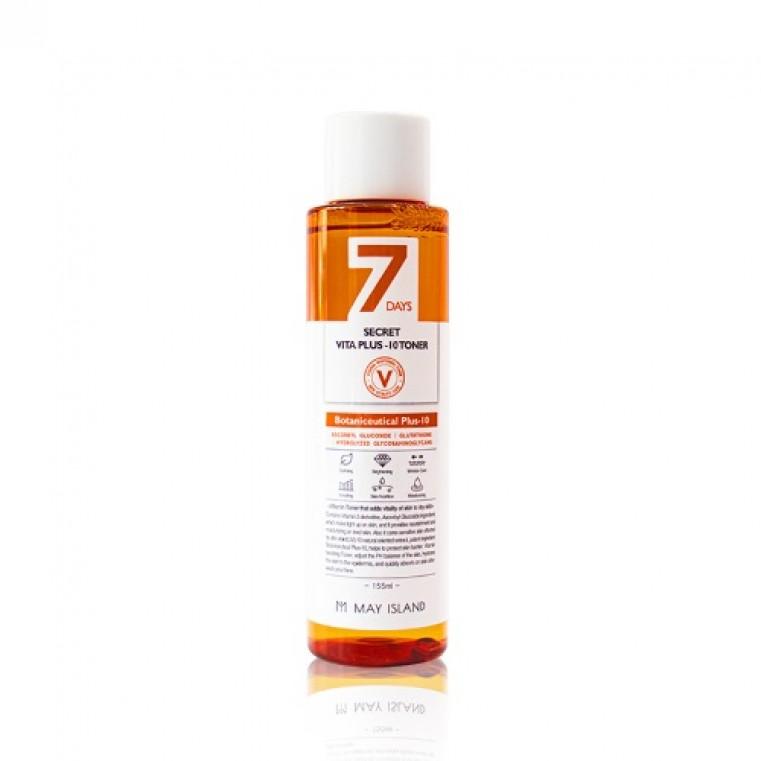 MAY ISLAND 7 Days Secret Vita Plus-10 Toner Витаминизированный тонер