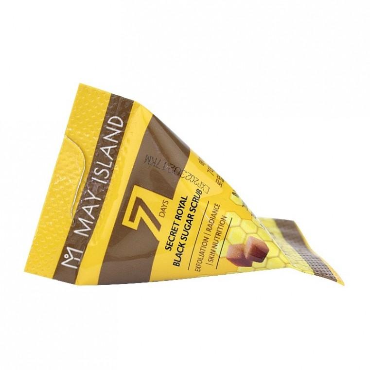 MAY ISLAND 7 Days Secret Royal Black Sugar Scrub Сахарный скраб для глубокого очищения кожи, 1шт