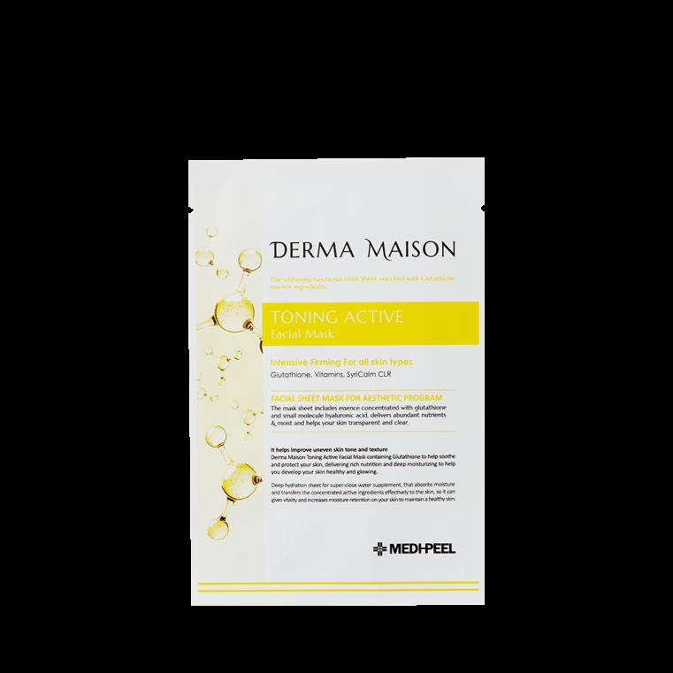 MEDI-PEEL DERMA MAISON Toning Active Facial Mask Осветляющая антиоксидантная и тонизирующая тканевая маска