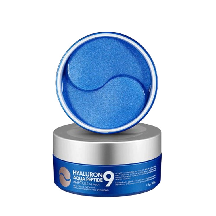 MEDI-PEEL Hyaluron Aqua Peptide 9 Ampoule Eye Patch Увлажняющие гидрогелевые патчи с пептидами