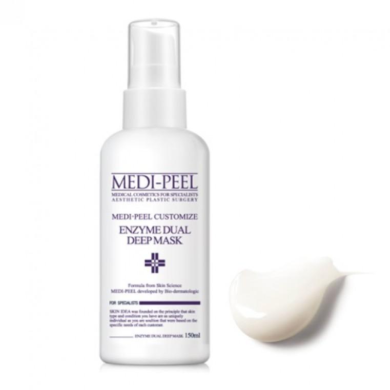 MEDI-PEEL Enzyme Dual Deep Mask Кислородная энзимная маска с эффектом пилинга