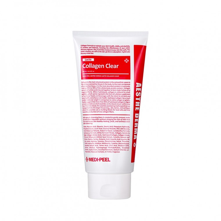 Medi-peel Aesthe Derma Lacto Collagen Clear Очищающая пенка для умывания с коллагеном