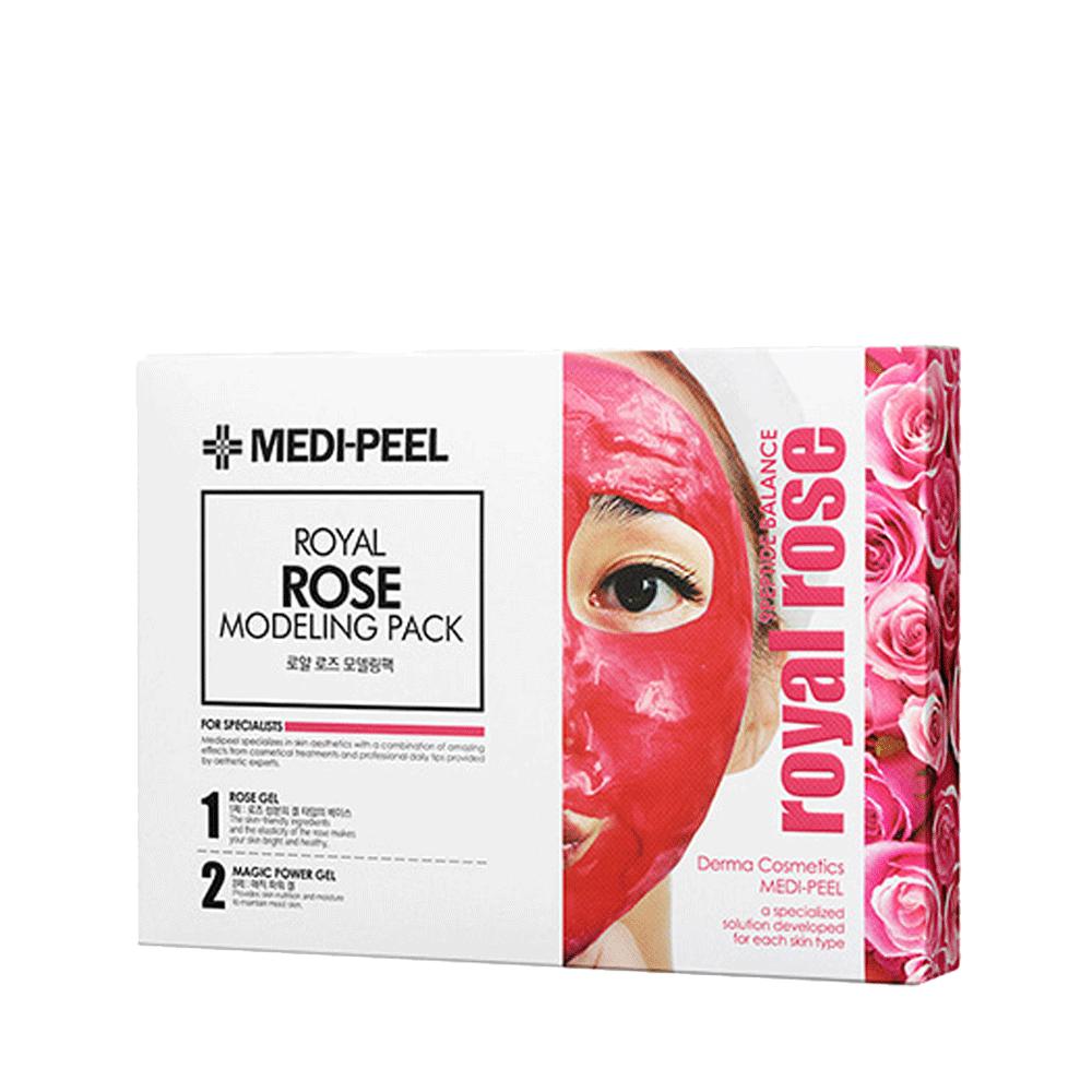 MEDI-PEEL  Royal Rose Modeling Pack Набор из 4 гелевых альгинатных масок с розой