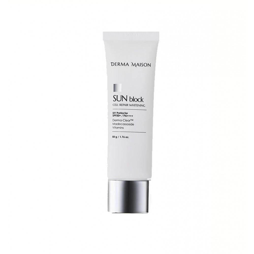Medi Peel Derma Maison Sun Block Cell Repair Whitening Солнцезащитный крем SPF50+PA++++