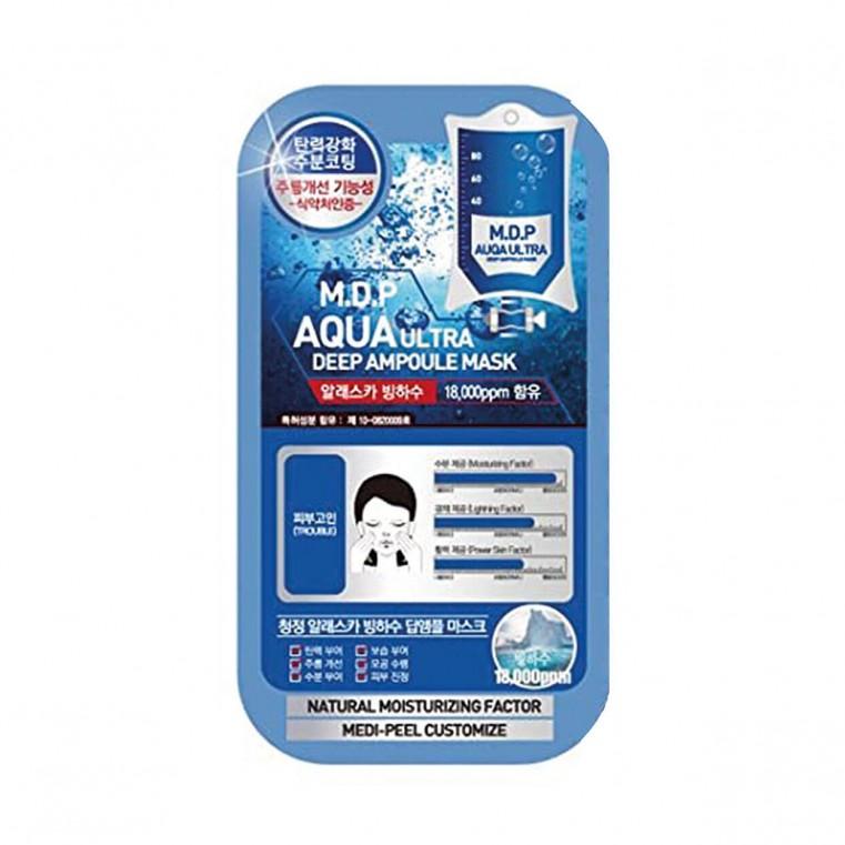 Medi-Peel Aqua Ultra Deep Ampoule Mask Тканевая маска для упругости кожи с экстрактом черной икры