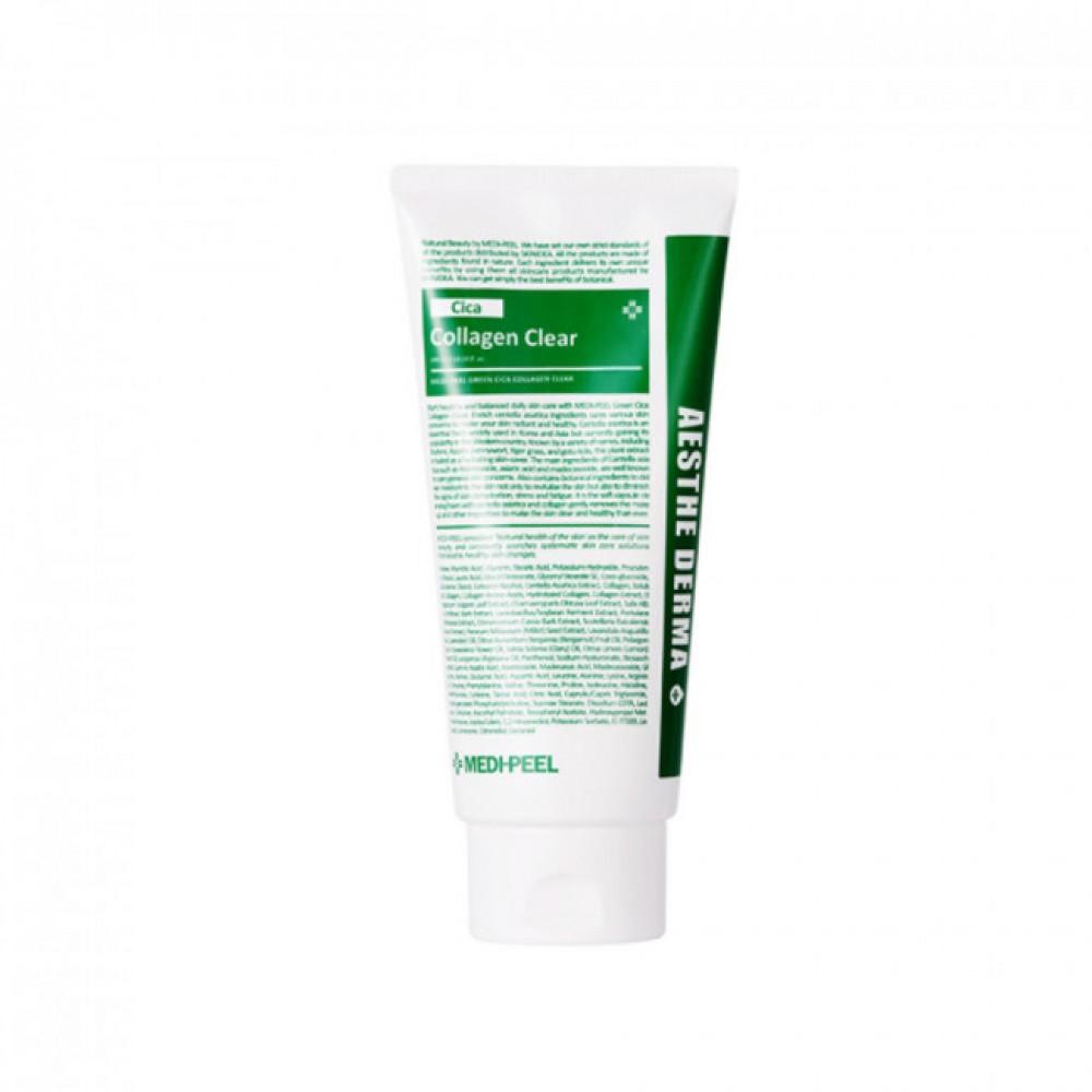 MEDI-PEEL Green Cica Collagen Clear Успокаивающая очищающая пенка с центеллой и коллагеном
