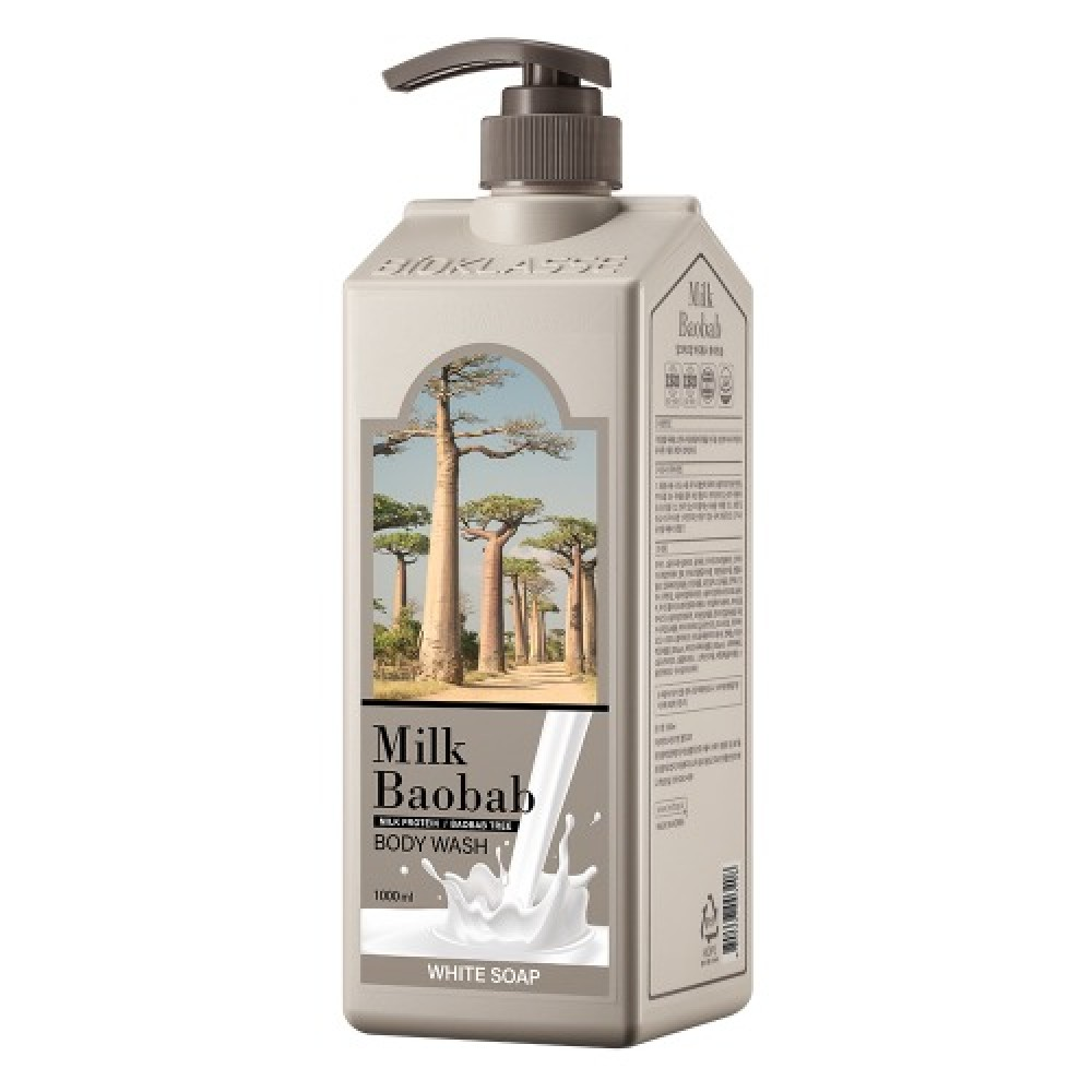 MILK BAOBAB Body Wash White Soap Гель для душа с ароматом белого мыла 1000мл