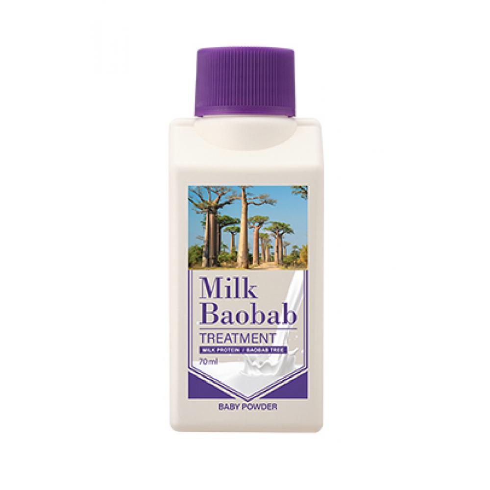 Milk Baobab Original Treatment Baby Powder Travel Edition Бальзам для волос с ароматом детской присыпки мини версия 70мл