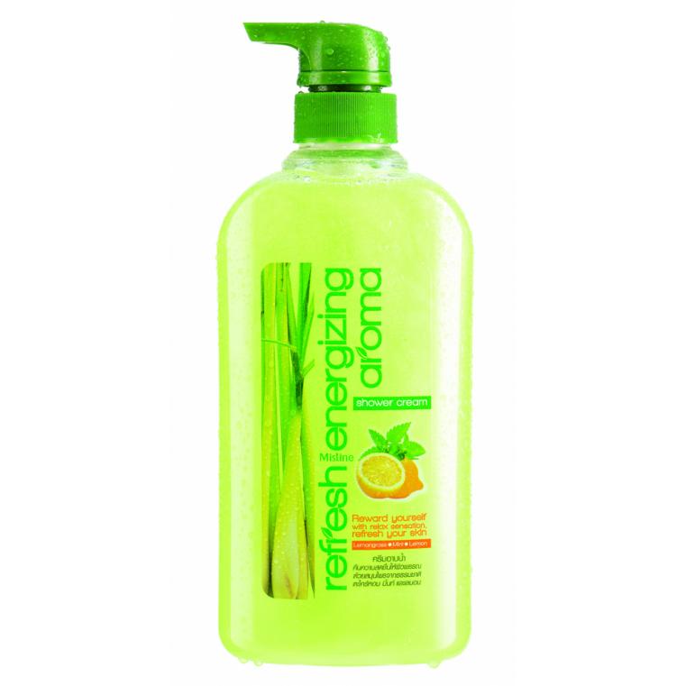 Mistine Refresh Energizing Aroma Shower Cream Гель бодрящий для душа с лемонграссом
