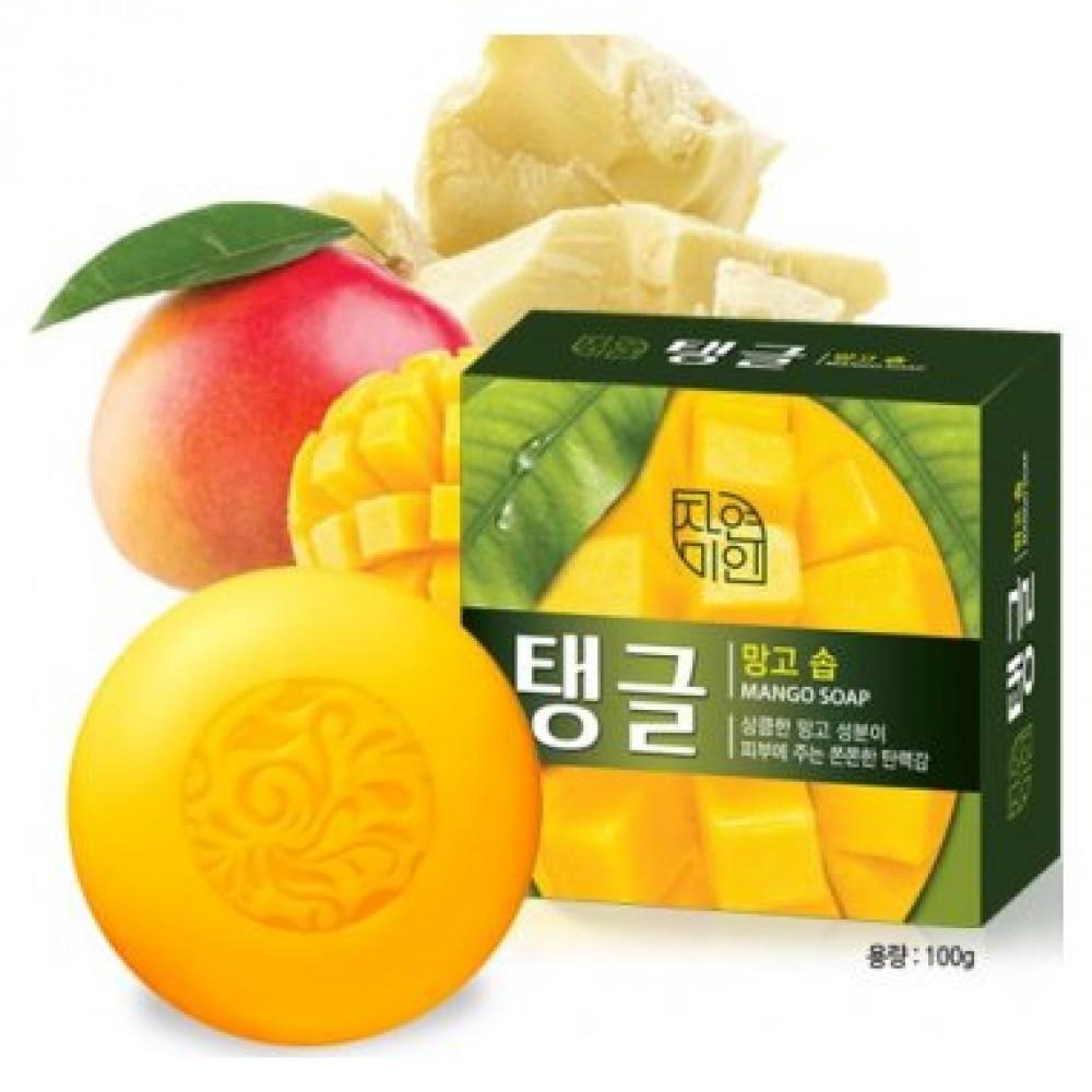 Mugunghwa Natural Beauty Mango Soap Мыло туалетное твердое с маслом из семян Манго