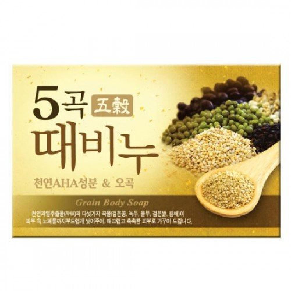 Mugunghwa Five Grains Scrub Soap Мыло-скраб для тела на основе пяти злаков