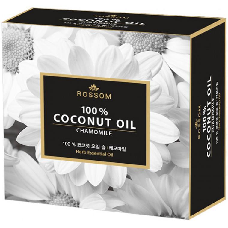 Pure coconut oil chamomile soup Мыло туалетное твердое из 100% масла кокоса с экстрактом ромашки и лаванды
