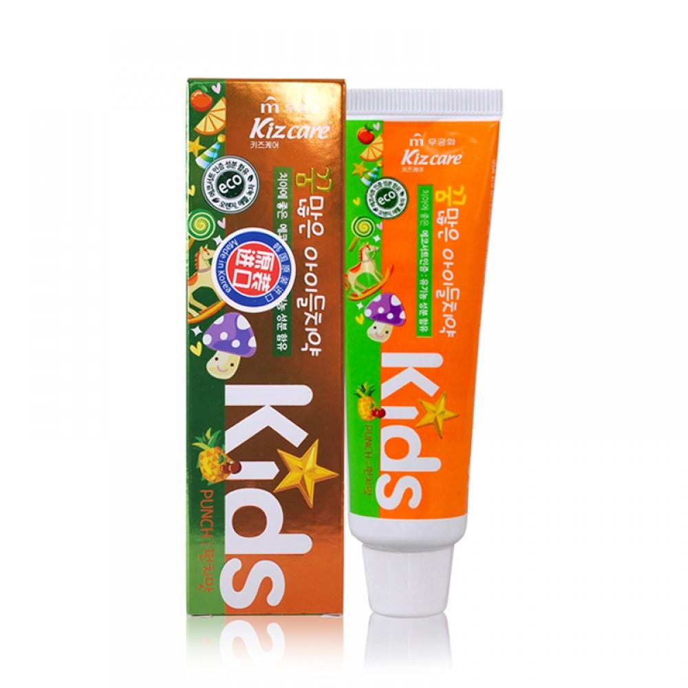 Kizcare Kids Детская гелевая зубная паста с ярким тропическим вкусом с 2л