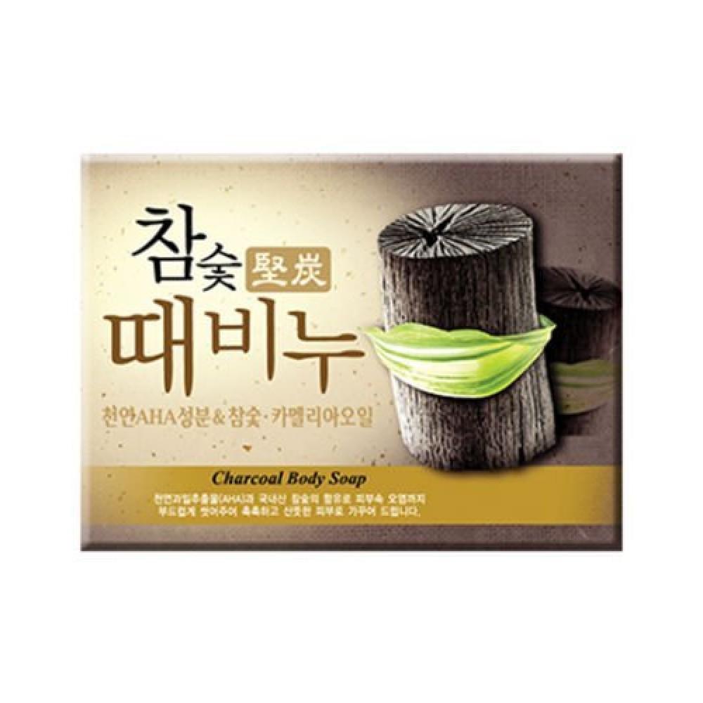 Mugunghwa Hardwood Charcoal Scrub Soap Мыло-скраб древесный уголь