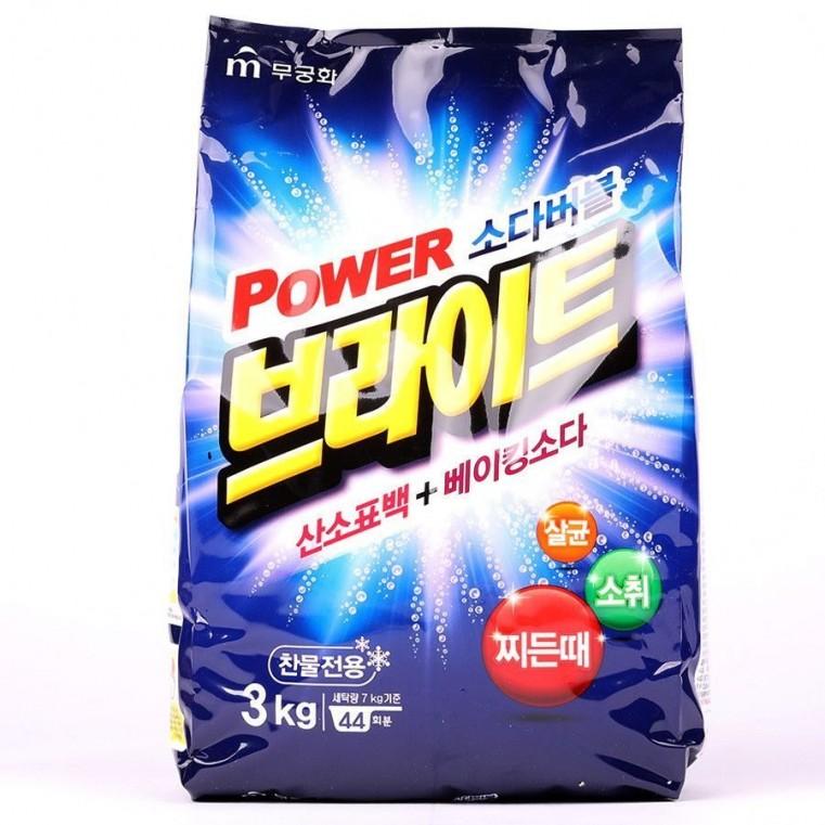 MUKUNGHWA Power Bright Refill Type Бесфосфатный стиральный порошок, 3кг