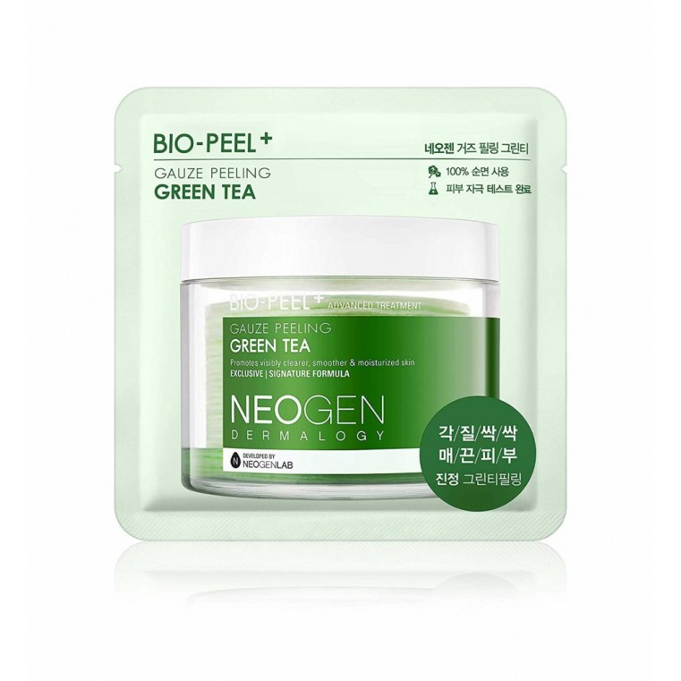 Dermalogy Bio Peel Gauze Peeling Green Tea Трёхслойные пилинговые диски с экстрактом зелёного чая