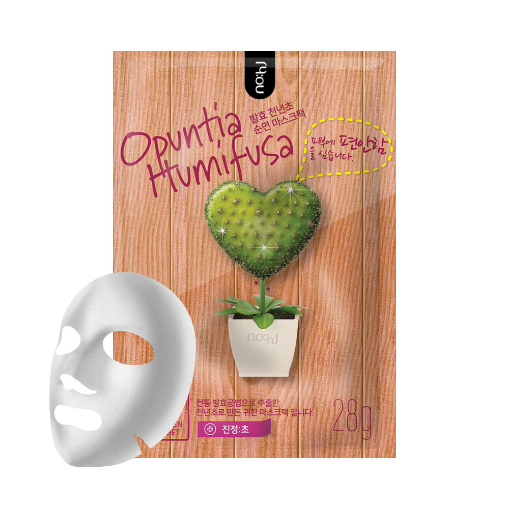 NO:HJ Opuntia Humifusa Mask Pack (Relax) Маска тканевая успокаивающая с экстрактом опунции
