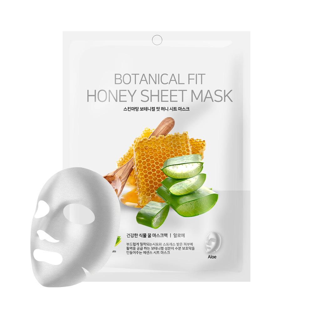 NO:hJ Skinmaman Botanical Fit Honey Sheet Mask Aloe Питательная, увлажняющая, успокаивающаямаска с мёдом и алоэ