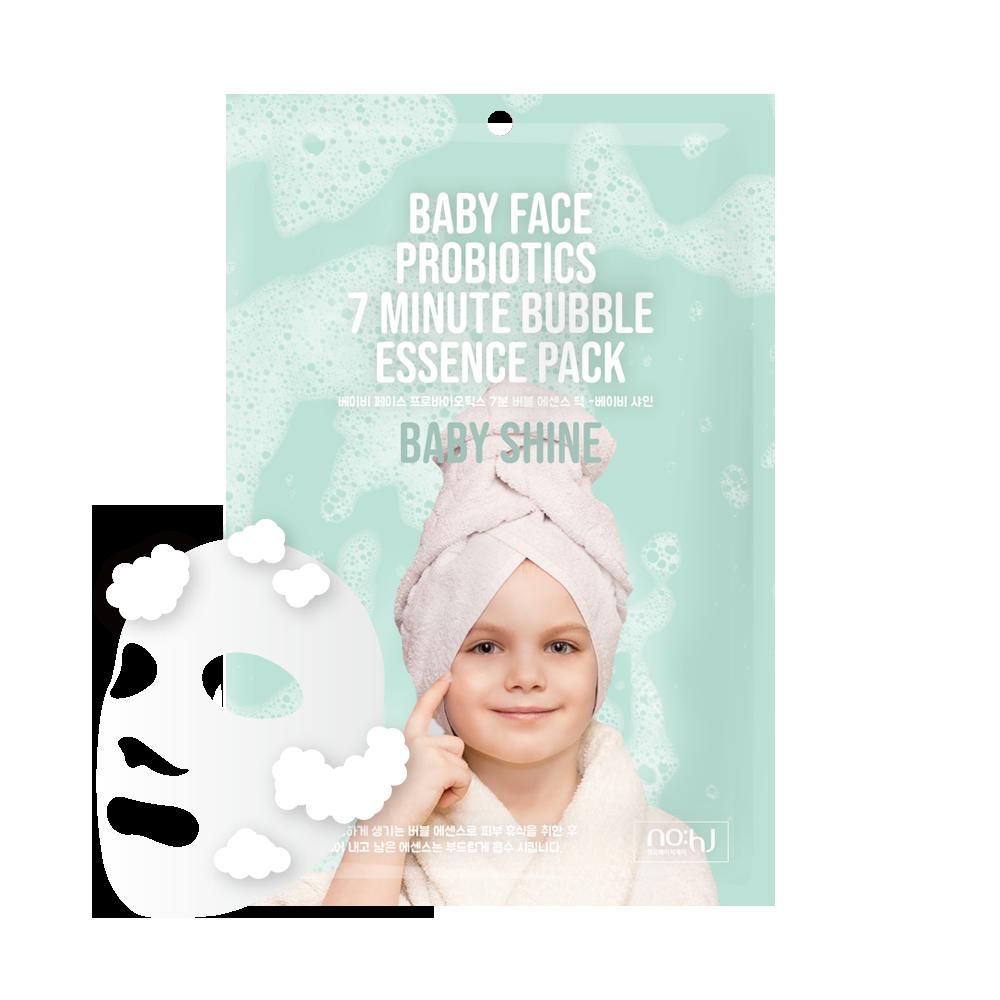 NO:HJ Baby Face Probiotics 7 Minute Bubble Essence Pack Baby Shine Пузырьковая маска с пробиотиками для сияния