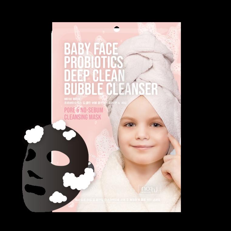 NO:HJ Baby Face Probiotics Deep Clean Bubble Cleanser Pore & No-Sebum Очищающая пузырьковая маска с пробиотиками для глубокого очищения