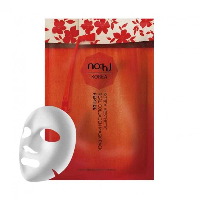 NO:HJ Korea Aesthetic Real Collagen Mask Pack PEPTIDE Омолаживающая маска с коллагеном и пептидами