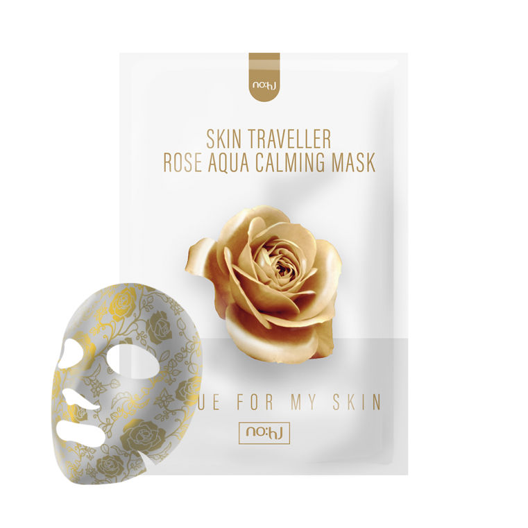 NO:hJ Skin Traveller Rose Aqua Calming Mask Увлажняющая успокаивающая маска с экстрактом розы