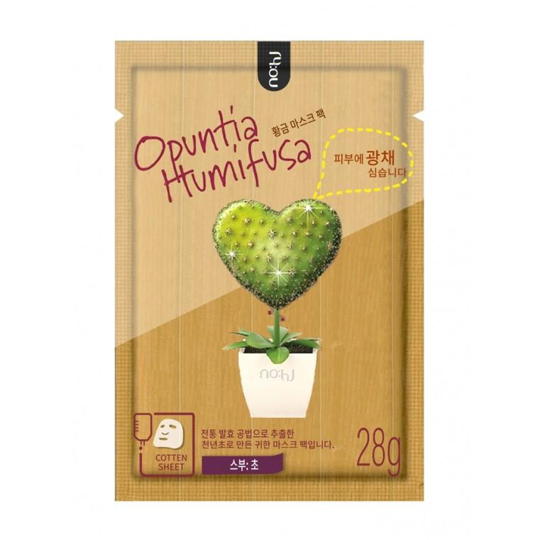 Opuntia Humifusa Mask Pack (Relax) Маска тканевая успокаивающая с экстрактом опунции