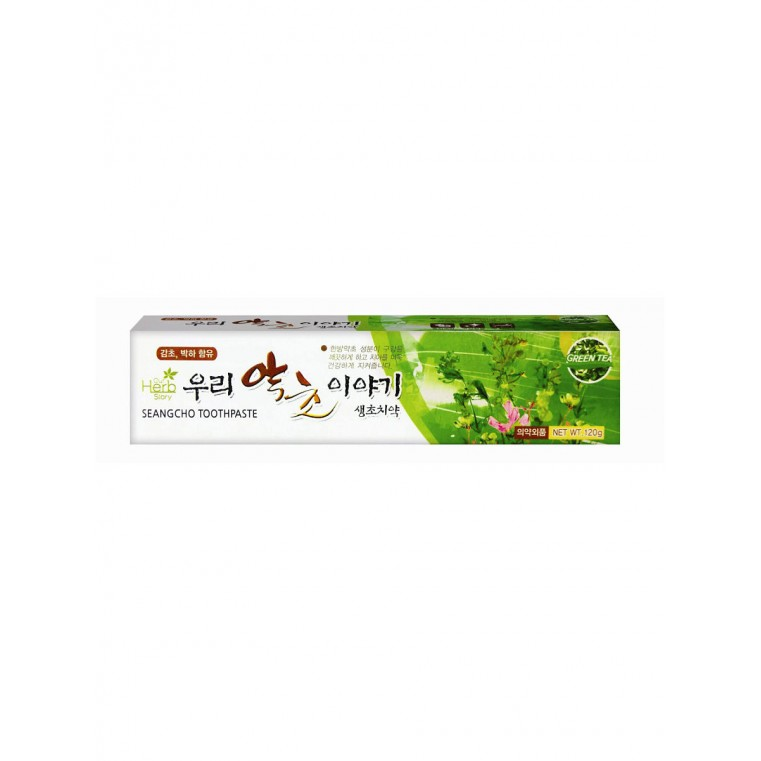 Our Herb Story Seangcho Green Tea Toothpaste Зубная паста с экстрактом зеленого чая
