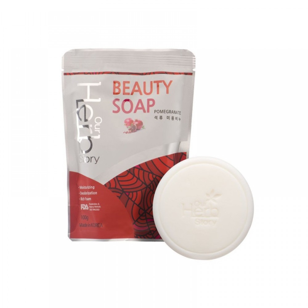 Our Herb Story Beauty Soap Pomegranate Мыло-пенка для умывания с гранатом