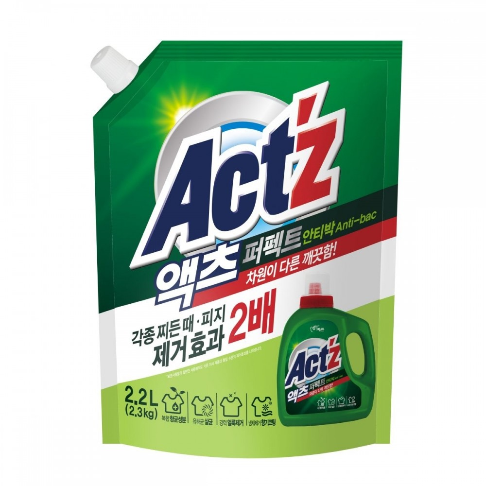 Pigeon ACT'Z Perfect Anti bacteria (bacterium) Гель для стирки белья Антибактериальный, пакет 2.2л