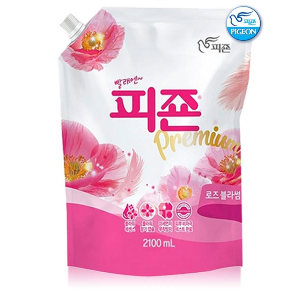 Pigeon Premium Fabric Softener Pink Rose Ополаскиватель для белья, 2100мл
