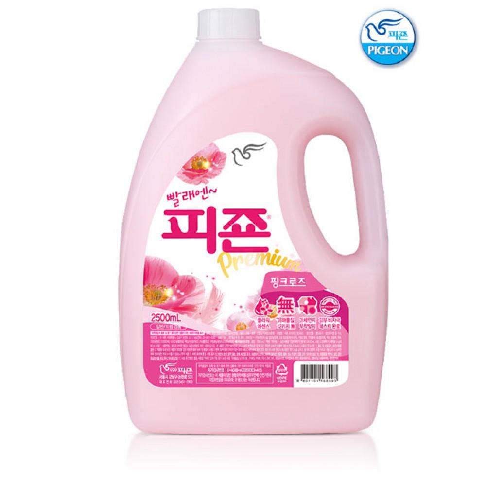 Pigeon Premium Fabric Softener Pink Rose Ополаскиватель для белья, 2500мл