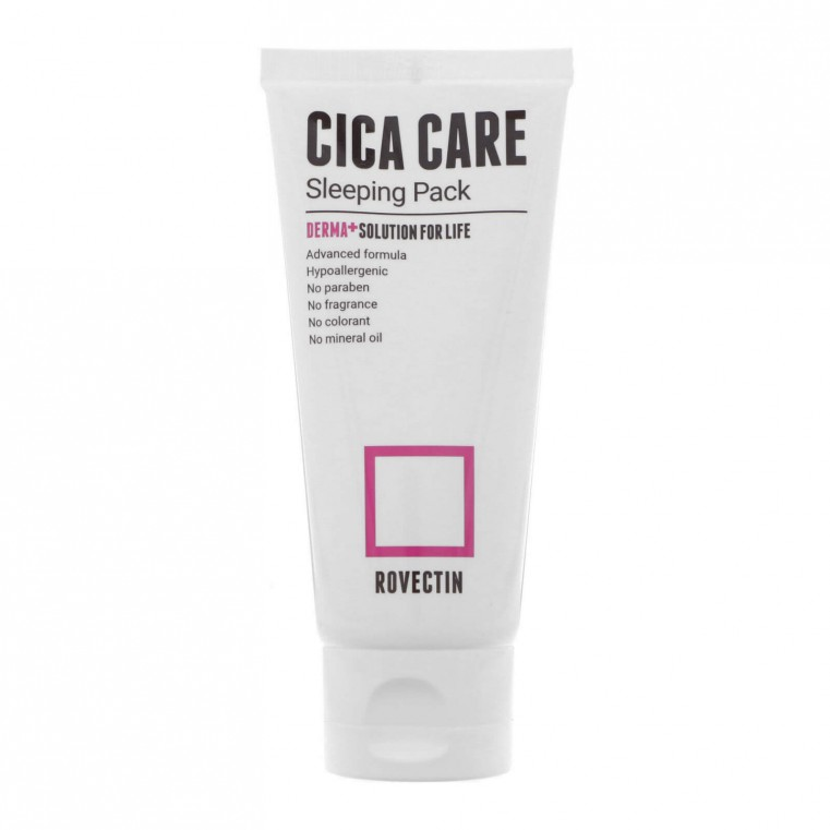 ROVECTIN Skin Essentials Cica Care Sleeping Pack Маская ночная обновляющая с центеллой