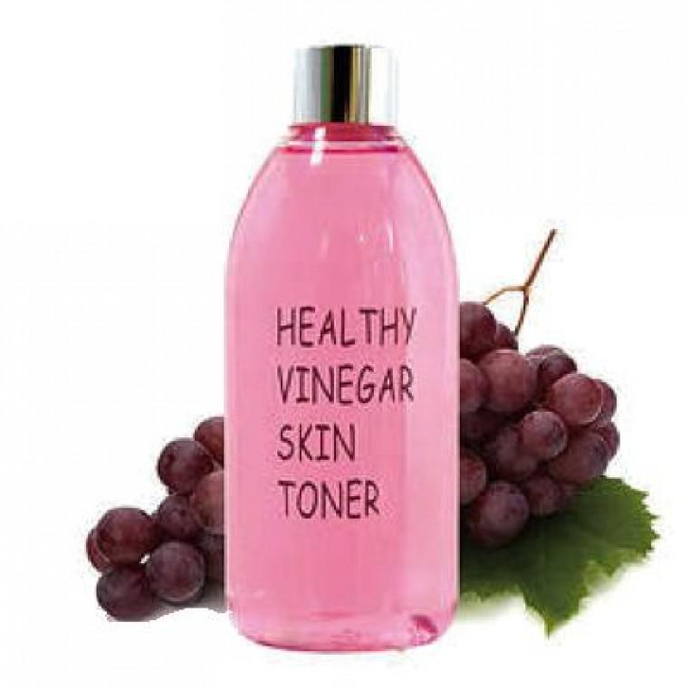 Real Skin Healthy Vinegar Skin Toner Grape Wine Real Skin Уксусный тонер на основе ферментированного экстракта красного вина