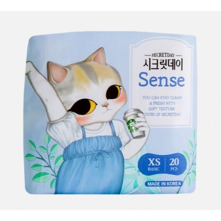 SECRET DAY Sense XS Basic Ежедневные ультратонкие дышащие прокладки