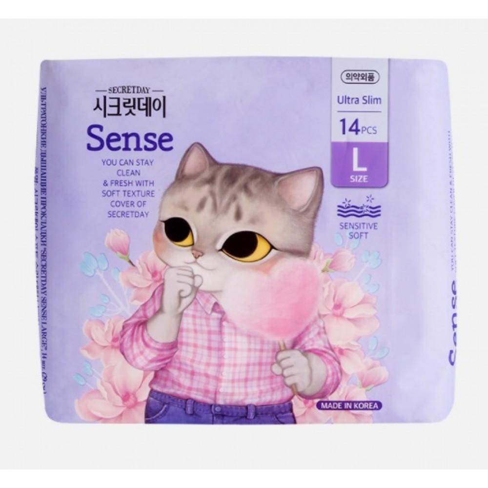 SECRET DAY Sense Ultra Slim L Ежедневные ультратонкие дышащие прокладки