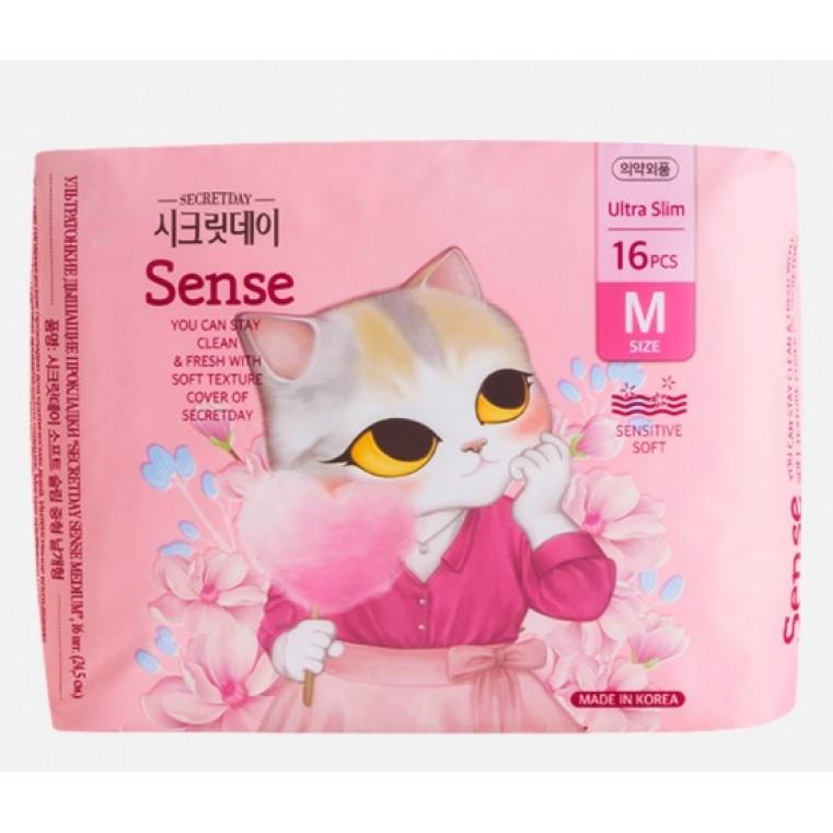 SECRET DAY Sense Ultra Slim M  Ультратонкие дышащие органические прокладки
