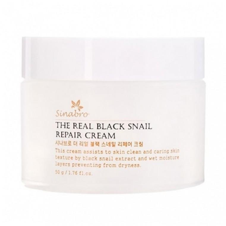 The real BLACK snail Repair Cream Крем восстанавливающий с экстрактом настоящей ЧЕРНОЙ улитки