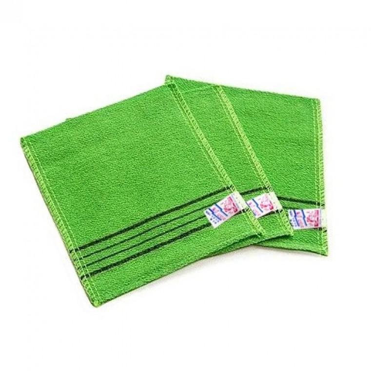 Sungbo Cleamy Viscose Squared Bath Towel Мочалка для душа 13,5х15см