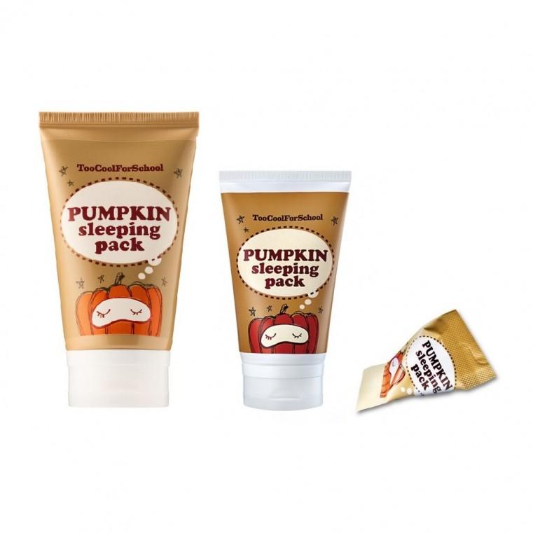 Too Cool For School Pumpkin Sleeping Pack Энзимная ночная маска с тыквой и керамидами