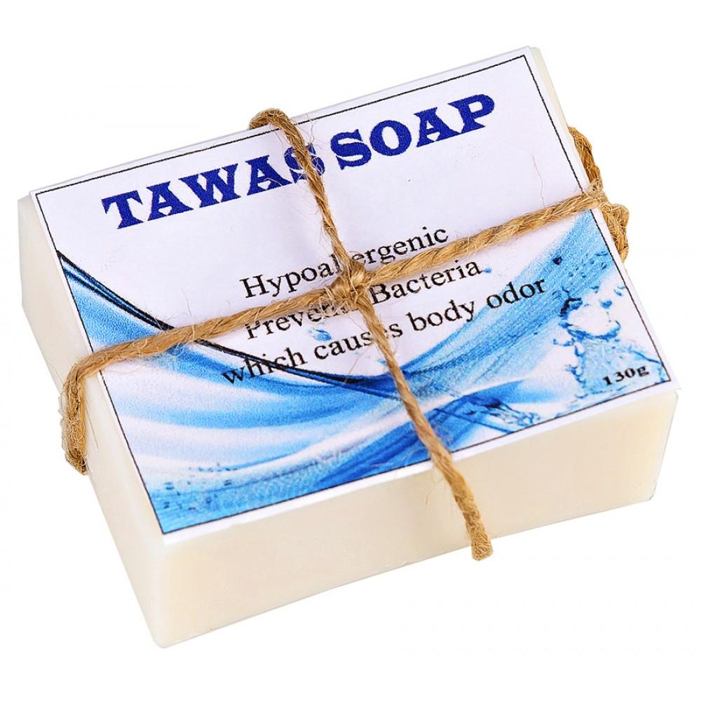 Tawas Crystal 100% кокосовое натуральное мыло ручной работы Tawas, с квасцами «Кристалл Свежести»